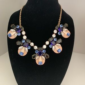 Blue bauble statement necklace